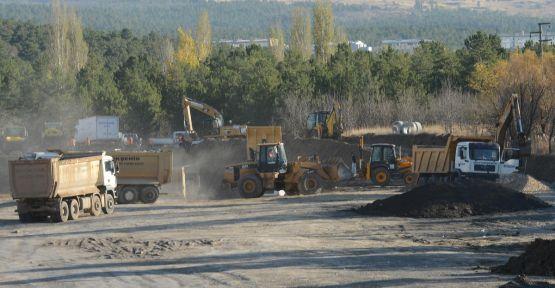 ODTÜ arazisindeki yol çöktü