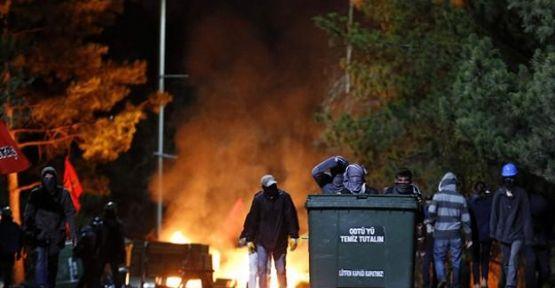 ODTÜ'de protestoculara müdahale