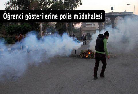 Öğrenci gösterilerine polis müdahalesi
