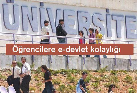 Öğrencilere e-devlet...