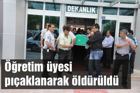 Öğretim üyesi pıçaklanarak öldürüldü