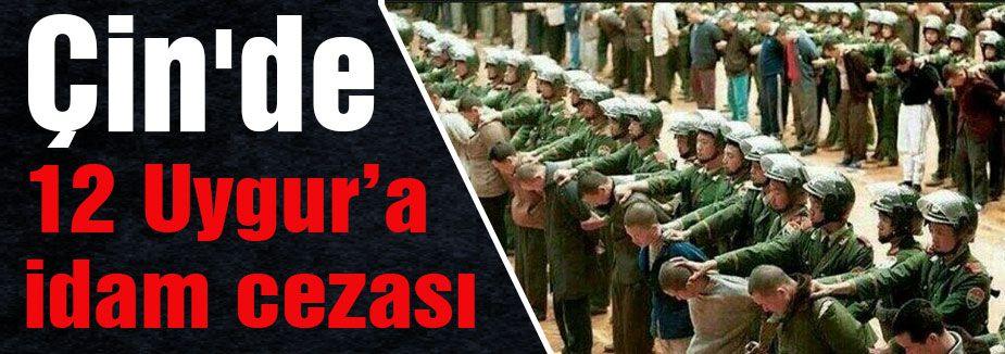 ONİKİ UYGUR TÜRK'E İDAM...