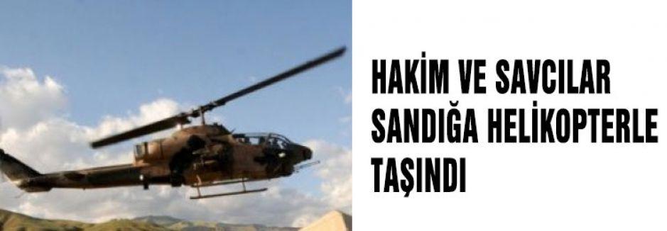 Oy kullanmaları için helikopterle taşındılar