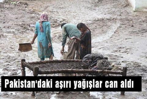 Pakistan'daki aşırı yağışlar can aldı