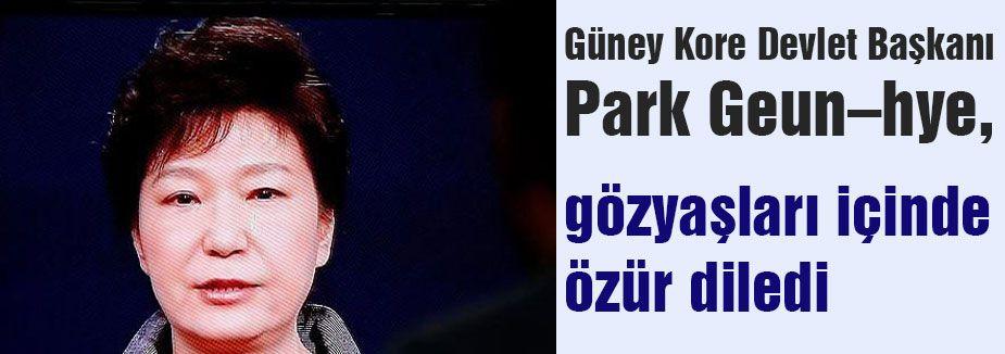 Park, gözyaşları içinde özür diledi