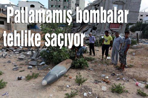 Patlamamış bombalar tehlike saçıyor