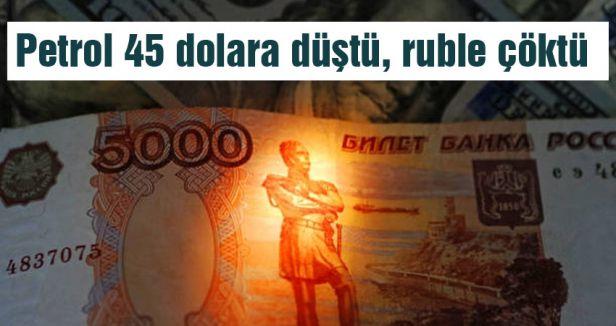 Petrol düştü  ruble çöktü