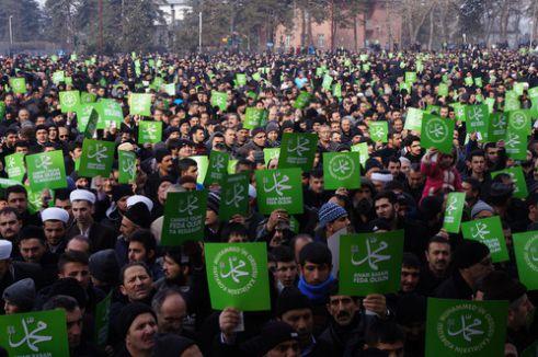 'Peygamberimiz'e Saygı, Zulme Lanet yürüyüşü' düzenlendi