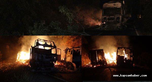 PKK, ikinci kez araçları ateşe verdi