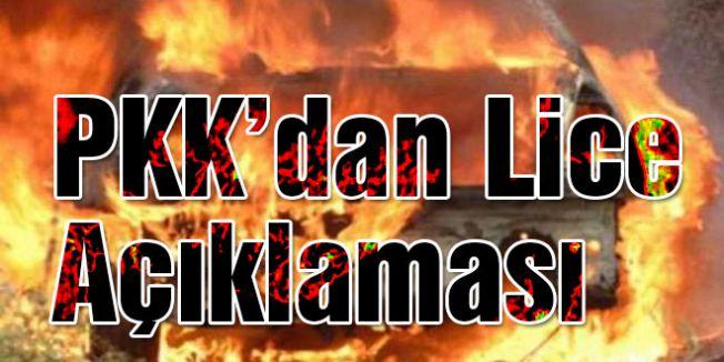 PKK, Lice'deki olaylarla ilgili açıklamada bulundu.
