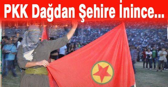 PKK ODTÜ stadyumuna Bayrak Dikti