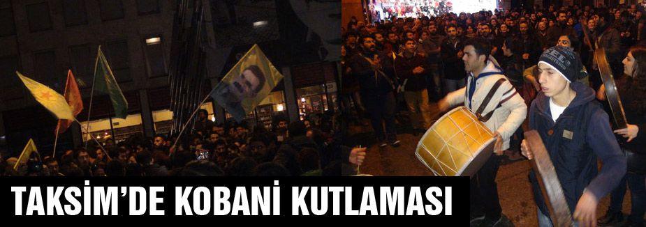 PKK, Taksim'de Kobani'yi Kutladı
