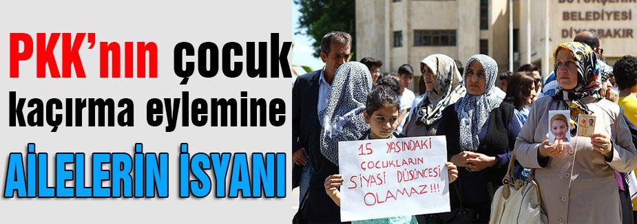 PKK Tarafından çocuk kaçırılmasına protesto