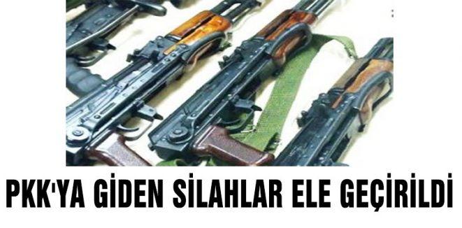 PKK'dan gönderilen silahlar ele geçirildi