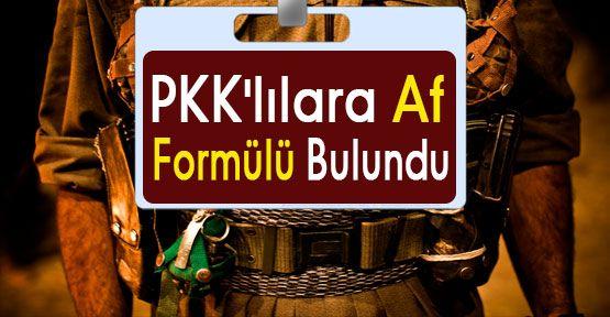 PKK'lılara Af Formülü...