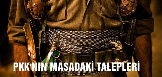 PKK'NIN MASADAKİ TALEPLERİ