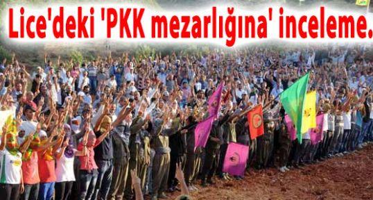 PKK'nın Sözde Şehitliğine  inceleme...