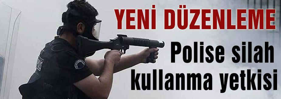 Polise silah kullanma yetkisi