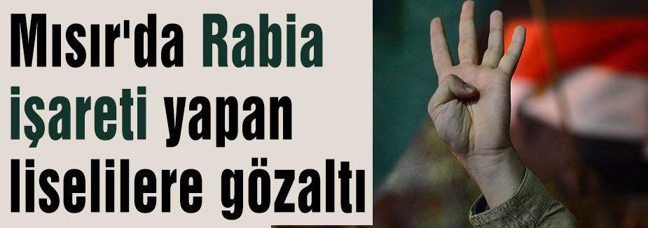 Rabia işaretine gözaltı