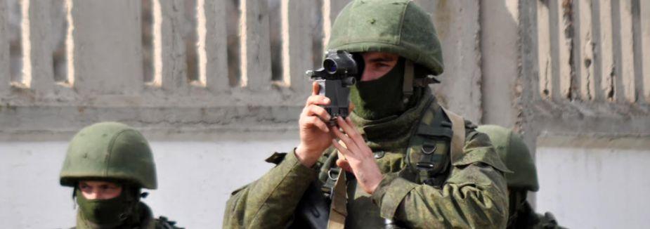 Rus askerleri sınır karakolunda...