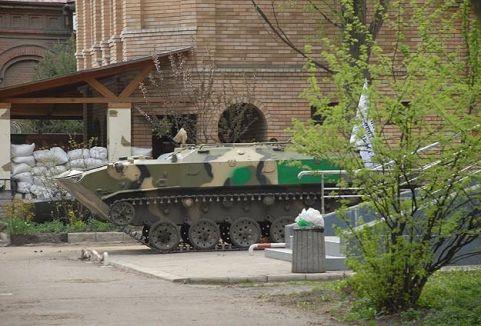 Rusya yanlıları Kramatorks Emniyet Müdürlüğü'nü ele geçirdi...
