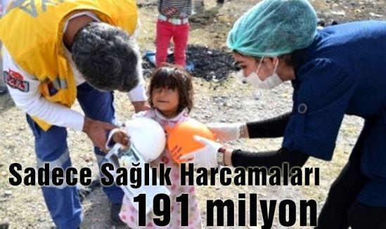 Sadece Sağlık Harcamaları 191 milyon