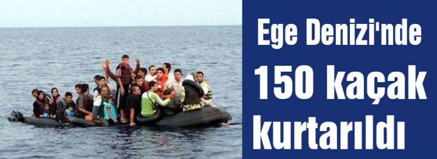 Sahil Güvenlik 150 kaçağı kurtardı