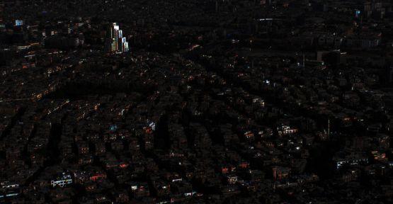 Şam karanlıkta kaldı