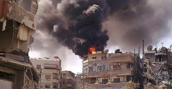 Şam'ın Kara ilçesinde bombardıman