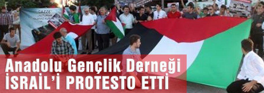Samsun Anadolu Gençlik Derneği İsrail'i Protesto etti