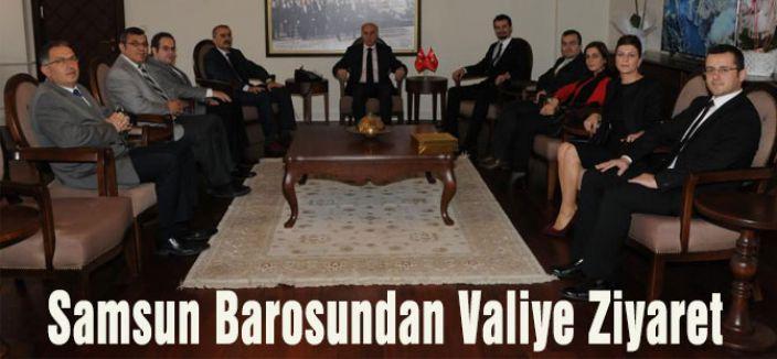 Samsun Barosu Vali Şahin'i ziyaret etti