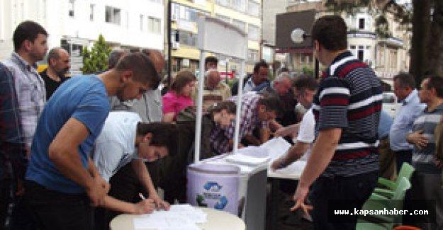 Samsun'dan Ankara çıkarmasına dilekçe desteği
