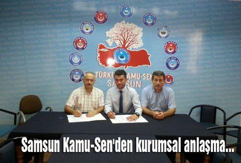 Samsun Kamu-Sen'den kurumsal anlaşma...