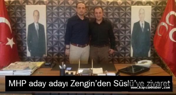 Samsun MHP aday adayı Osman Zengin Süslü'yü ziyaret etti