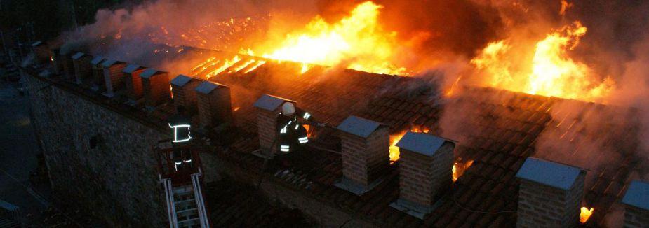 Samsun Tarihi Taşhan'da Yangın