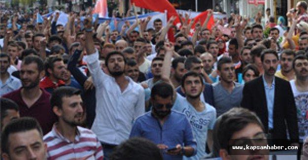Samsun Ülkü Ocaklarından protesto yürüyüşü