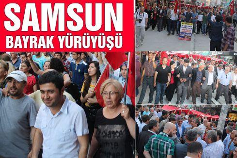 Samsun'da Bayrak Yürüyüşü yapıldı