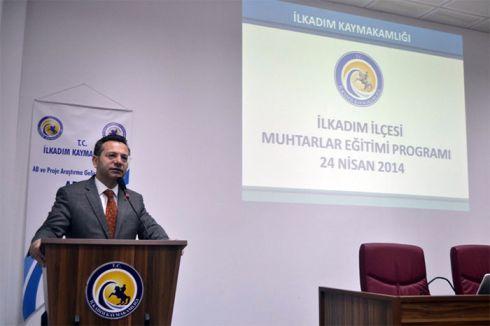 Samsun'da Muhtarlar Eğitimden geçti