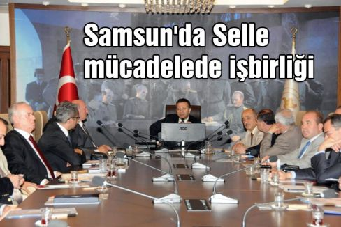 Samsun'da Selle mücadelede işbirliği