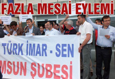 Türk İmar-Sen'den  'Fazla Mesai' Eylemi