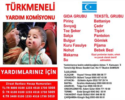 Samsun'da Türkmeneli yardım kampanyası...