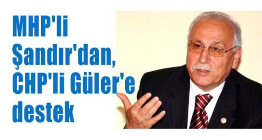 Şandır, CHP'li Güler'e Destek Verdi
