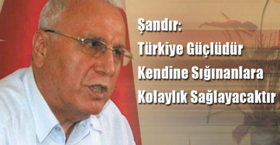 Şandır: Türkiye Güçlüdür Kendine Sığınanlara Kolaylık Sağlayacaktır
