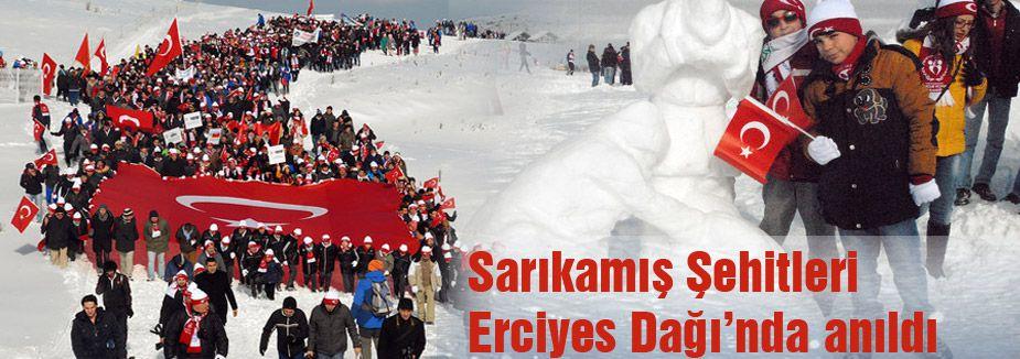 Sarıkamış Şehitleri Erciyes'te anıldı