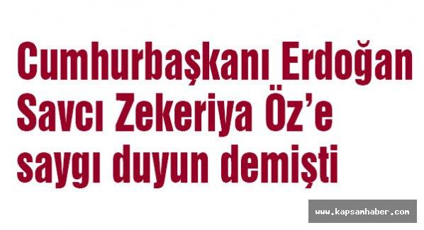 'Savcı Zekeriya Öz'e saygı duyun'