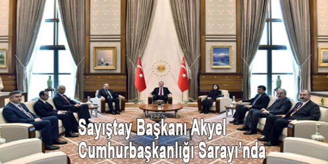 Sayıştay Başkanı Akyel Cumhurbaşkanlığı Sarayı'nda