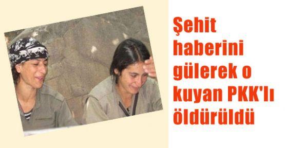 Şehit Haberine Gülen PKK'lı Öldürüldü