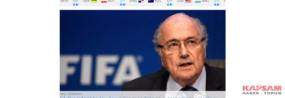 Sepp Blatter istifa etti
