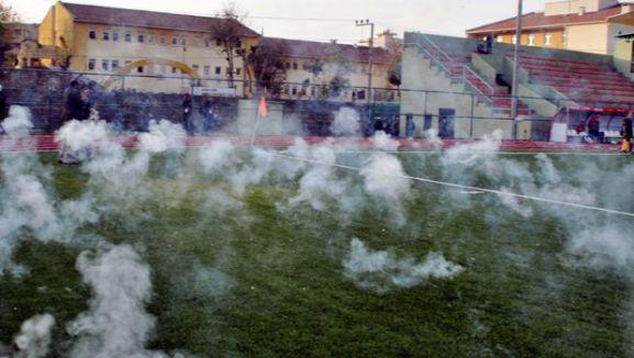 'Seyircisiz' Cizrespor-Gençlerbirliği maçında olay