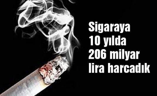 Sigaraya 10 yılda 206 milyar...